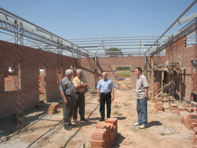 Al Friesen in Bolivia Discussing Women's Shelter Needs